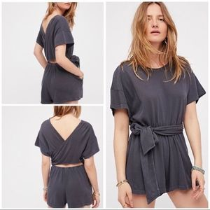 NWT Free People Easy Street Wrapped Romper